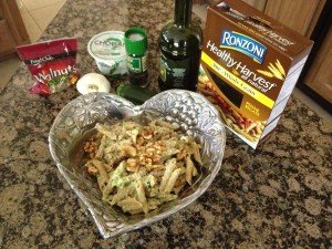Cindy's Penne Pasta with Zucchini Yogurt Sauce and Walnuts