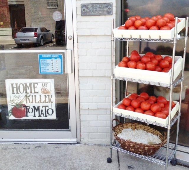 Coffee Co tomatoes outside