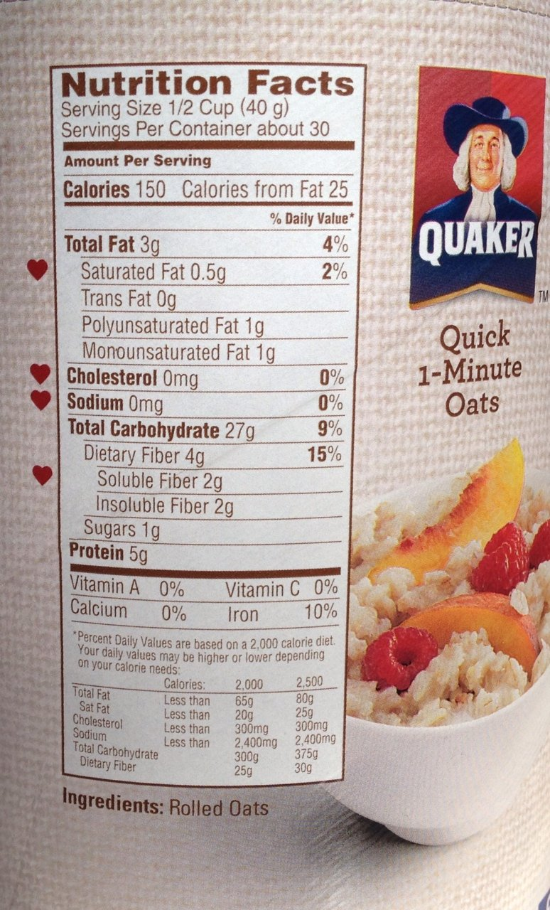 Glycemic Index Of Quaker Old Fashioned Oatmeal
