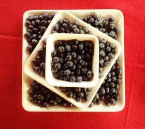 blueberry centerpiece - on plates