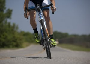 exercising, cycling